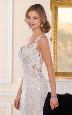 6506 Curve-Hugging Vintage Wedding Gown by Stella York