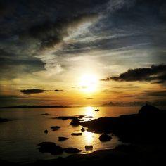 Atardecer 2 la isla de Arosa