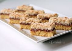 Sweet Desserts, Sweet Recipes, Cookie Recipes, Dessert Recipes, Czech Recipes, Cookie Bars, Baked Goods, Sweet Tooth, Food Porn