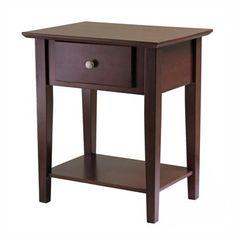 Winsome Wood 94922 Shaker Nightstand