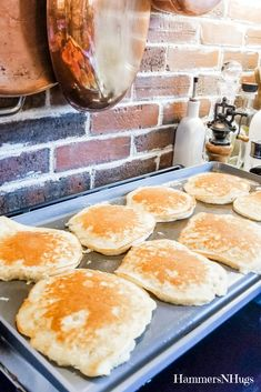 Joanna Gaines' Best Pancake Recipe – Hammers N Hugs With a couple of ingredient changes, enjoy our new favorite family breakfast from Joanna Gaines' Magnolia Table Cookbook, and create your own delicious memories around the table! Joanna Gaines, Delicious Breakfast Recipes, Brunch Recipes, Yummy Food, Slow Cooker Breakfast, Breakfast Dishes, Best Pancake Recipe, Pancake Recipes, Gourmet