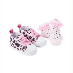 Shop Kids' Sweet & Soft Pink Black size 6-9M Baby & Walker at a discounted price at Poshmark. Description: This adorable set comes with tiny converse style sneakers and matching ruffle sockies. A perfect gift idea for a baby shower, this set comes brand new and fits sizes 6-9M. #8TEAN. Sold by pacesdeals. Fast delivery, full service customer support.