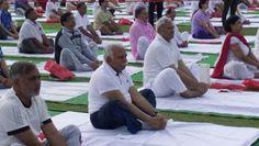 Cm Khattar In Baba Ramdev Yoga Class 3