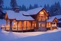 This rustic home really brings the snow alive!