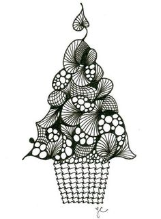 tree-2 by Linda shared on Zentangle website