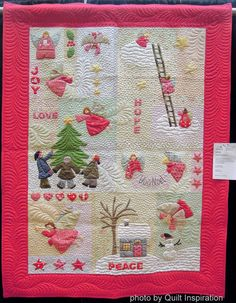 Angels Among Us, made by Felicia Brenoe (Felicia's World), quilted by Lisa Sipes, 2014 AZQG.  Photo by Quilt Inspiration