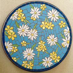#mosaic #bistro #tabletop - one of my #favourites - #buttercups and #daisies #buttercupsanddaisies #flowers #spring