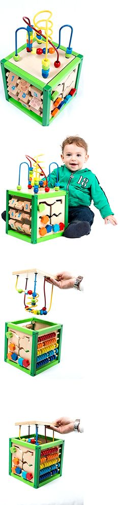 Wooden and Handcrafted Toys 1197: Bead Maze Cube Activity Center Kids Destiny My First Learning Wood Removable Top -> BUY IT NOW ONLY: $37.41 on eBay!