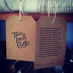 hang tags printed by Terrapin/Stationers