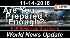 Earthquakes - CivilWar - Sectarian Violence - Unrest - FSS World News Update - Survival Prepper News - YouTube https://www.youtube.com/watch?v=v1EFJZR20Z8&feature=em-uploademail