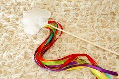 party favors, diy rainbow, wands, rainbow crafts, birthday parties, rainbows, st patricks day, rainbow wand, kid
