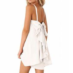 """Spotted while shopping on Poshmark: """"BEAUTIFUL BOW BACK DRESS!""""! #poshmark #fashion #shopping #style #Dresses & Skirts"""