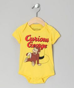 Take a look at this Yellow Curious George Bodysuit by Curious George on #zulily today!
