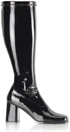 2aaade02068 black wide width gogo boots. Available in adult women sizes  7W