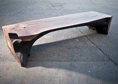 Live Edge Furniture, Tree Furniture, Black And White Chair, White Chairs, Black White, Wood Table Design, Walnut Burl, Slab Table, Asian Home Decor