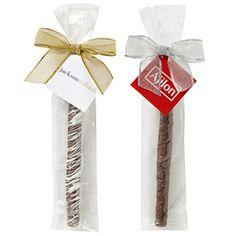 Chocolate Covered Pretzel Sticks with Your Logo   Fina Promos
