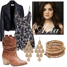 Aria Montegomery(?) inspired Outfit❤ by ellakonst on Polyvore featuring polyvore, fashion, style, Glamorous, Balenciaga, Wet Seal, Chan Luu, Irene Neuwirth and clothing