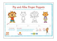 Find these Pip and Alba finger puppets in our Pip Ahoy! activity section on iChild.