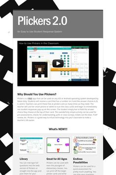 Plickers 2.0: Fantastic set of Instructional Support Resources for this Formative Assessment Tool