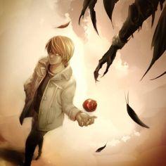 Death Note - Light Yagami and Ryuk Death Note Serie, Death Note デスノート, Death Note Fanart, Death Note Light, Manga Anime, Anime Art, Blue Exorcist, Hetalia, Tsugumi Ohba