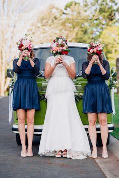 cute bridesmaid portrait, photo by Jess Jackson http://ruffledblog.com/intimate-queensland-wedding #wedding #bridesmaids