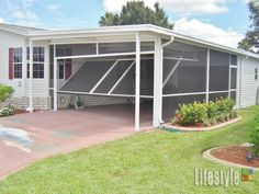 This is awesome. lifestyle garage screen door carport 53