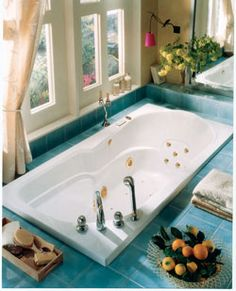 "Neptune Mara Activ-Air Tub - 71-3/4"" x 36"" x 20-3/4""- MA72A #BathroomRemodel #BathtubIdeas #DropInBathtub"
