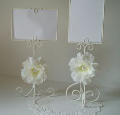 ROMANTIC Wedding Candy Bar Sign with Ivory Flowers by WeeGardens