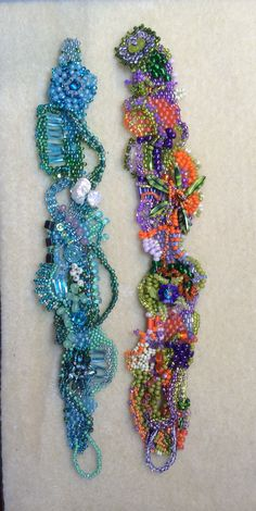 Made recently be me. I'm in love with freeform peyote. I especially like the purple orange green combo