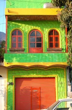 https://flic.kr/p/BnwLK | Storefront, Ajijic, Mexico | I've shot this several times in the past, but the building continues to attract me. This is late in the afternoon and the front door is closed, adding even more color to the already warmer, more saturated colors, this time of day.