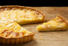 Pear and Almond Tart // Frangipane, an almond-flavored pastry cream, is matched with pears in this classic French tart!