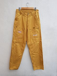 Vintage Karl Helmut X Pink House Japanese Works Wear Trouser Cargo Pants Size 30 Cargo Pants, Khaki Pants, Japanese Words, Pink Houses, Parachute Pants, Denim Jeans, Thighs, Trousers, Shorts
