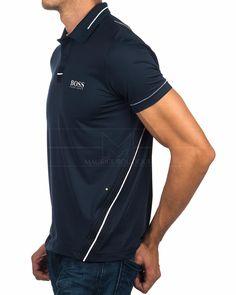 Navy Blue HUGO BOSS © Polo Shirt ✶ Pavotech | BEST PRICE Polo Tees, Polo Shirt, T Shirt, Hugo Boss Outlet, Polo Design, Men's Wardrobe, Ladies Golf, Online Shopping Clothes, Mens Tees