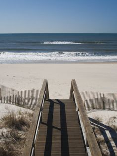 New York, Long Island, the Hamptons, Westhampton Beach, Beach View from Beach Stairs, USA Photographic Print