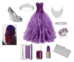 """""""Purple Princess by Cheyenne"""" by lydia-cassady on Polyvore featuring Urban Decay, Essie, Clinique, Nina, Bling Jewelry and Milly"""