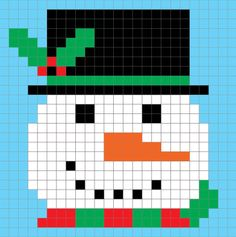 Crochet Snowman Pixel Graph - Repeat Crafter Me