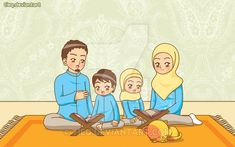 Reading the Quran by tieq on DeviantArt -:]- . - Reading the Quran by tieq on DeviantArt -:] – … – Reading Qur&# - I Love My Fiance, Happy Islamic New Year, Cute Muslim Couples, Islamic Cartoon, Muslim Family, Anime Muslim, Hijab Cartoon, Mother Art, Islamic Girl