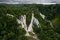 Djidji waterfalls, Ivindo National Park, Ogooué-Ivindo province, Gabon - photo by Yann Athus-Bertrand.one of my dream places to visit Places Around The World, Oh The Places You'll Go, Places To Visit, Around The Worlds, Parc National, National Parks, Beautiful World, Beautiful Places, Château De Villandry