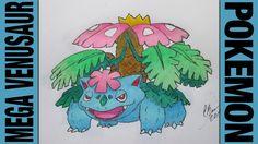 Drawing Time Lapse: Mega Venusaur (Pokemon) ポケットモンスター || #003.1