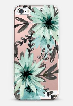 Blue asters. Watercolor iPhone SE case by Julia Badeeva | Casetify