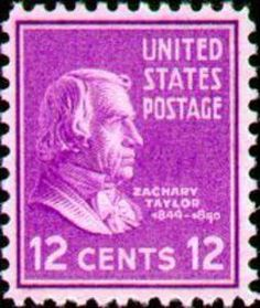 US Stamp - Zachary Taylor 12th US President 1849-1850