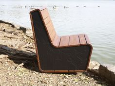Stepping Up Chair is made from #reused and #ecofriendly Richlite end caps.  #greenbiz #greendesign #nowaste
