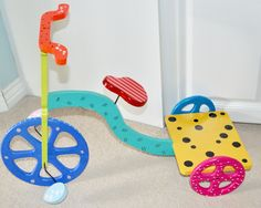 Wooden tricycle Tricycle, Kids Rugs, Hand Painted, Crafts, Home Decor, Manualidades, Decoration Home, Kid Friendly Rugs, Room Decor