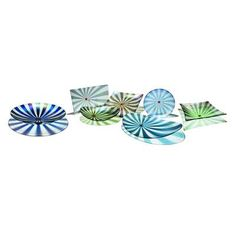 Transitional Table Accessory from Studio-K, Model: Fused glass bowls and platters in a variety of sizes, shapes, and colors. Sold separately...