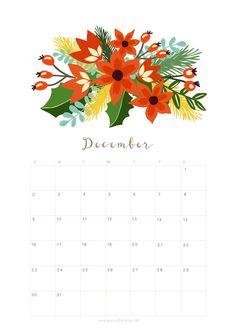 Best Floral December Calendar 2019 Cute Wallpaper For Desktop, Laptop, IPhone Calendar 2019 Printable, Cute Calendar, Monthly Planner Printable, Event Calendar, Free Printable, Calendar Templates, December Calendar 2019, December Daily, Calendar Wallpaper