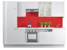 red Kitchen Cabinets, Red, Home Decor, Cooking, Furniture, Decoration Home, Room Decor, Cabinets, Home Interior Design