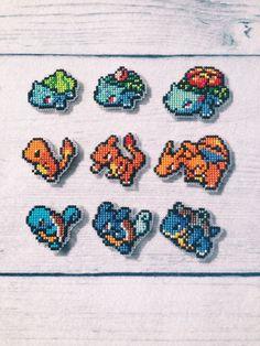 Cross stitch Pokemon Starters by Roxanne Proulx