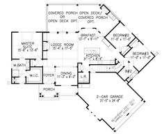 Florida Style House Plans 3650 Square Foot Home 1 Story 4