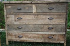 YOUR Custom Rustic Barn Wood Dresser by timelessjourney on Etsy, $500.00...why can't this be cheaper
