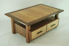 curly maple coffee table | Curly big leaf maple veneered coffee table - by Canadian Woodworks ...